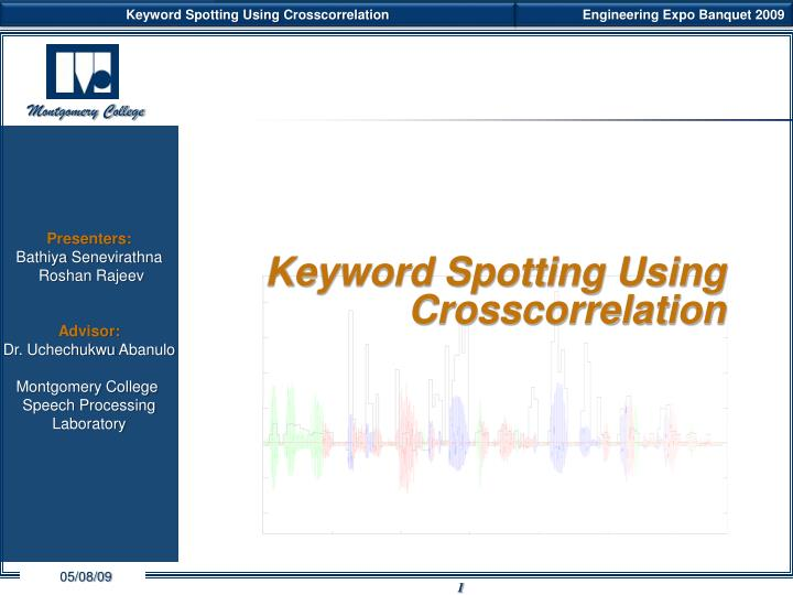 keyword spotting using crosscorrelation n.