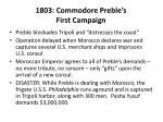 1803 commodore preble s first campaign