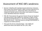 assessment of nsc 68 s weakness
