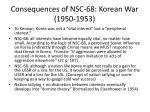 consequences of nsc 68 korean war 1950 1953