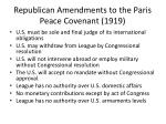 republican amendments to the paris peace covenant 1919