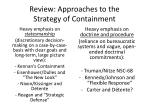 review approaches to the strategy of containment