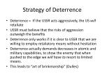 strategy of deterrence