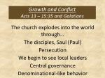 growth and conflict acts 13 15 35 and galatians
