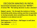 decision making in india
