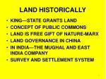 land historically