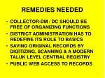 remedies needed
