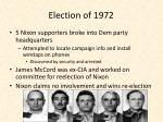 election of 1972