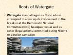roots of watergate