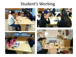 student s working