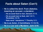 facts about satan con t