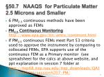 50 7 naaqs for particulate matter 2 5 microns and smaller