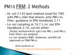 pm 10 frm 2 methods