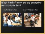 what kind of work are we preparing our students for