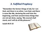 3 fulfilled prophecy