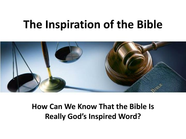 the inspiration of the bible n.