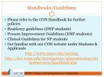 handbooks guidelines