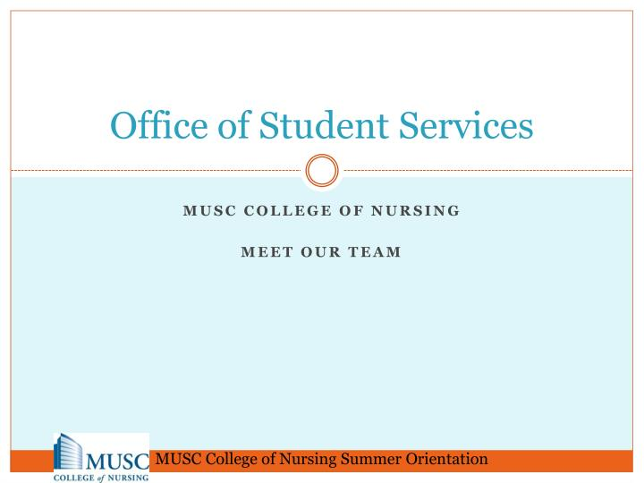 office of student services n.
