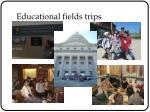 educational fields trips