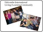 holcombe international living learning community