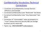 confidentiality vocabulary technical corrections