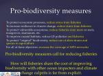 pro biodiversity measures