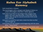 rules for alphabet rummy