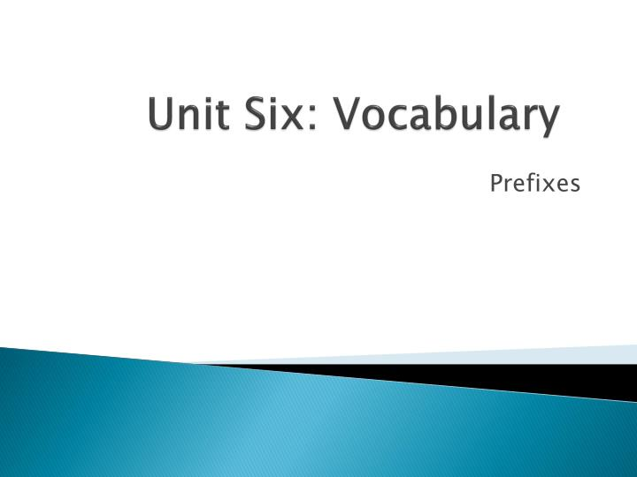 unit six vocabulary n.