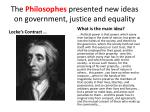 the philosophes presented new ideas on government justice and equality