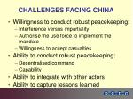 challenges facing china