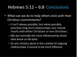 hebrews 5 12 6 8 conclusions6