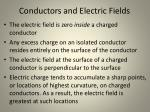 conductors and electric fields