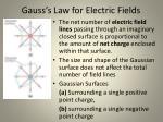 gauss s law for electric fields