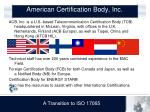 american certification body inc