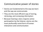 communicative power of stories