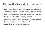 multiple identities identity is dynamic