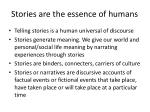 stories are the essence of humans