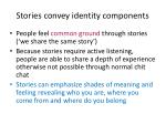 stories convey identity components