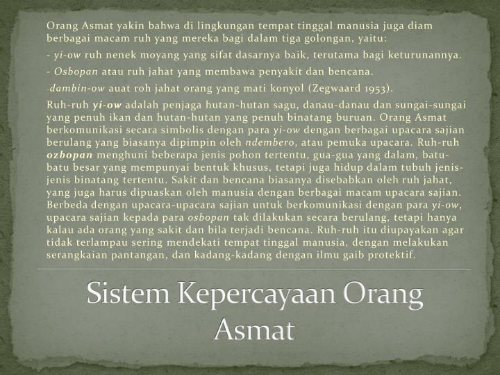 Sistem Kepercayaan Orang Asmat