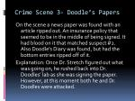 crime scene 3 doodle s papers