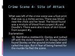 crime scene 4 site of attack