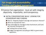 fair image and accountability funding and budget managment