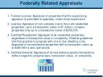 federally related appraisals