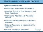 professional appraisal groups1