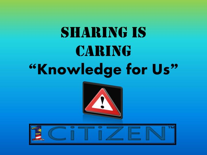 sharing is caring knowledge for us n.