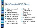 self directed iep steps