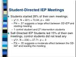 student directed iep meetings