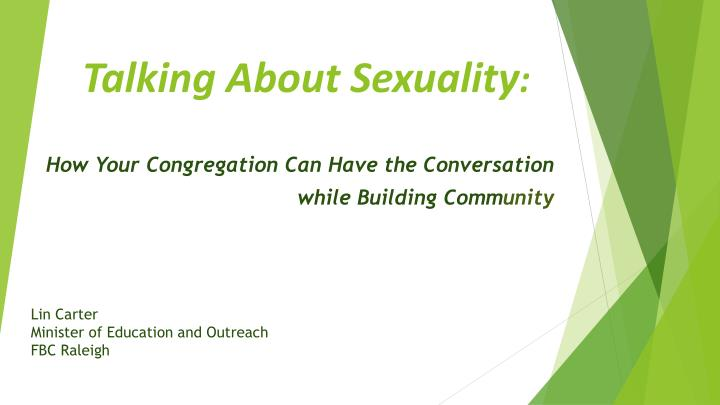 talking about sexuality n.