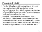 procedure di validit1