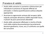 procedure di validit2
